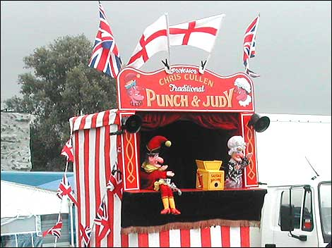 The mobile booth for a Punch and Judy show & Punch and Judy - The World of Puppetry: A look through theatre history